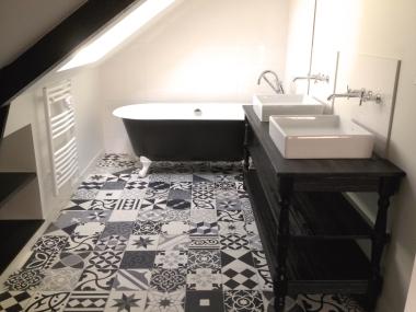 exemple aménagement salle de bain - baignoire