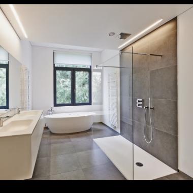 exemple aménagement salle de bain - douche à l'italienne