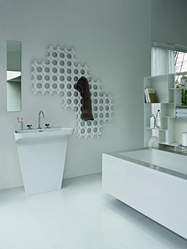 sèche serviette décoratif design - baignoire- lavabo